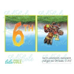 Skylanders GIANTS party banner - printable