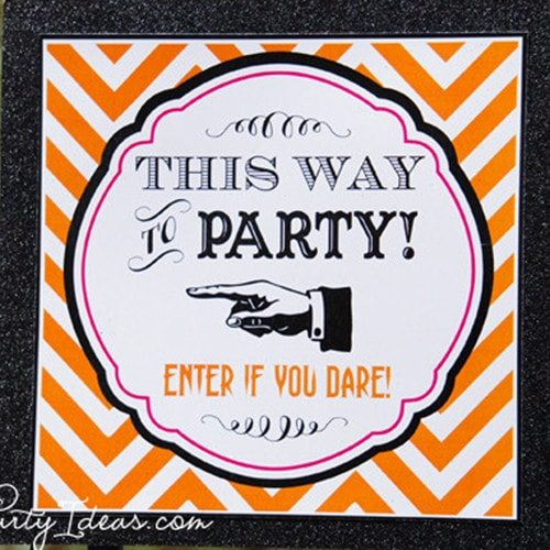 Halloween Printable Directional Sign - INSTANT DOWNLOAD