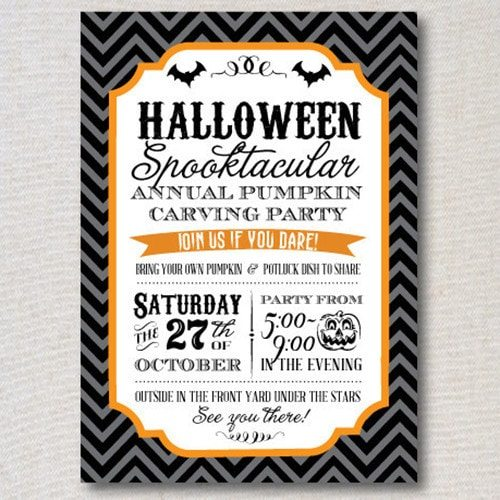Vintage Halloween Printable Invitation