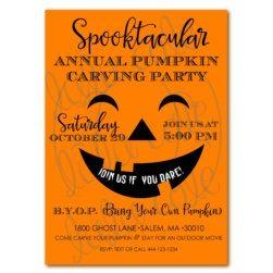 Halloween Pumpkin Carving Party Printable Invitation