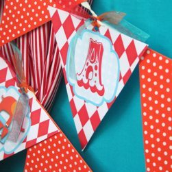 Circus Carnival Birthday Party Ideas | Birthday Banner | Printable Party Garland | High Chair Bunting
