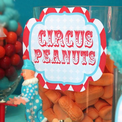 Printable Circus Carnival Birthday Party Candy Bar Labels