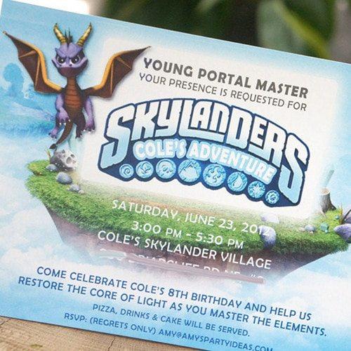 Skylanders Inspired Printable Birthday Invitations - Skylanders Inspired Birthday Party Ideas & Supplies