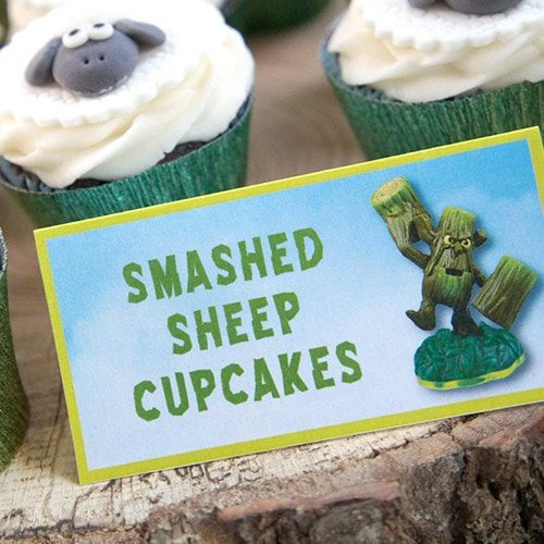 Skylanders GIANTS Inspired Printable Table Tent Labels - Skylanders Inspired Birthday Party Ideas & Supplies