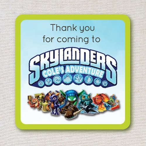 Skylanders Inspired Birthday Favor Tags - Skylanders Inspired Birthday Party Ideas & Supplies