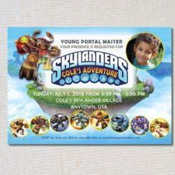 Skylanders Inspired Birthday Invitation - Skylanders Inspired Birthday Party Ideas & Supplies