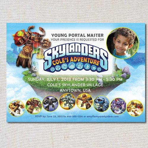 Skylanders Inspired Birthday Invitation - Skylanders Inspired Birthday Party Ideas & Supplies