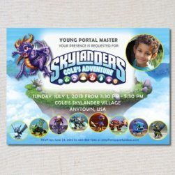 skylanders printable invitations