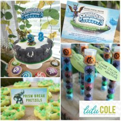 Skylanders GIANTS Inspired Printable Birthday Party Supplies - Skylanders Inspired Birthday Party Ideas & Supplies