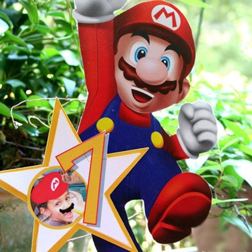 Super Mario Birthday Party centerpiece - personalized