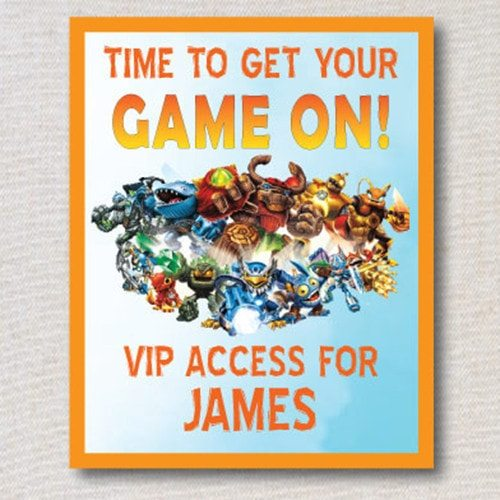 Skylanders GIANTS party VIP badges - printable
