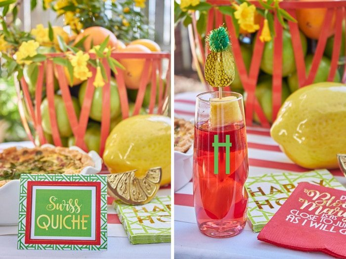 Let's Do Brunch with Swoozies.com and AmysPartyIdeas.com | Brunch Entertaining Ideas | Mimosa Bar