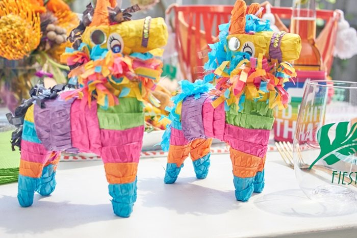 Mini Pinata Party Favors | Cactus Fiesta Party Ideas | Cinco de Mayo party ideas | Mexican party or wedding | Outdoor Entertaining | As seen on AmysPartyIdeas.com and Swoozies.com