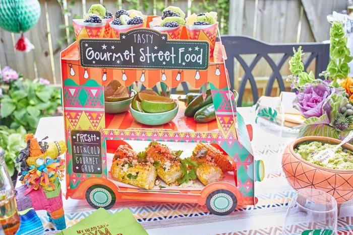 Taco Truck | Cactus Fiesta Party Ideas | Cinco de Mayo party ideas | Mexican party or wedding | Outdoor Entertaining | As seen on AmysPartyIdeas.com and Swoozies.com