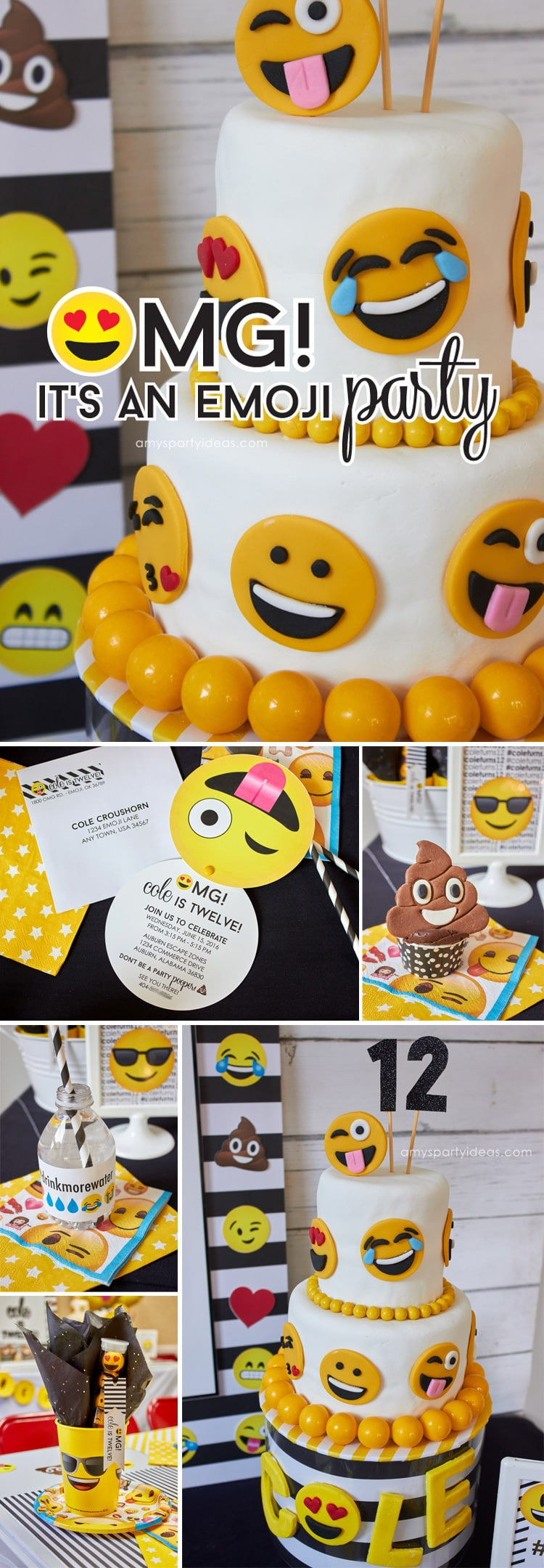 Emoji Party Ideas Printables As Seen On AmysPartyIdeas