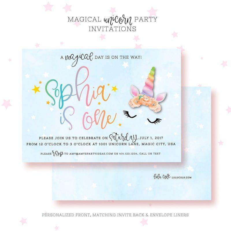 Unicorn birthday invitations amys party ideas printable unicorn invitations stopboris Choice Image