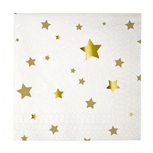 gold star napkins for Unicorn Party