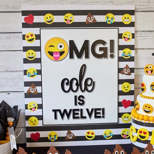 Emoji Party Printable Backdrop Or Photo Booth From LuluCole For AmysPartyIdeas