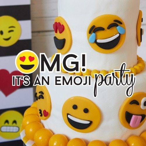 Emoji Party Printable Favors And Favor Tags From LuluCole For AmysPartyIdeas
