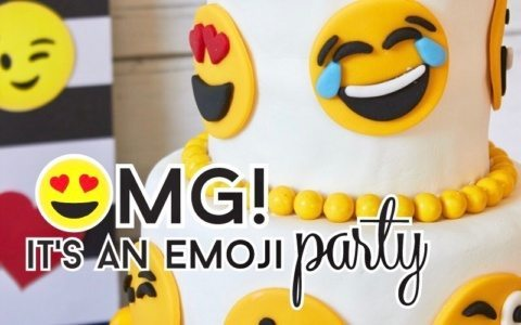 Emoji Party Ideas & Printables as seen on AmysPartyIdeas.com