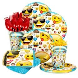 emoji party plates & napkins