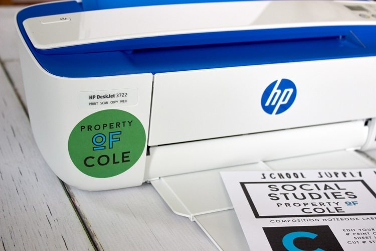 Back to School with HP + Free Printable Labels | Amy's Party