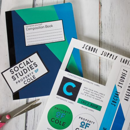 Back to School with HP + Free Printable Labels