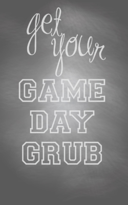Game Day Grub Free Printable from AmysPartyIdeas.com