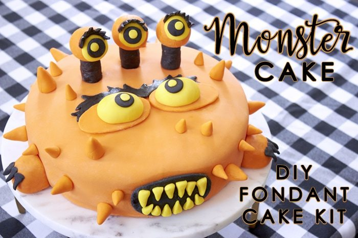 Monster Mash DIY Fondant Cake Kit from Cakest.co as seen on AmysPartyIdeas.com