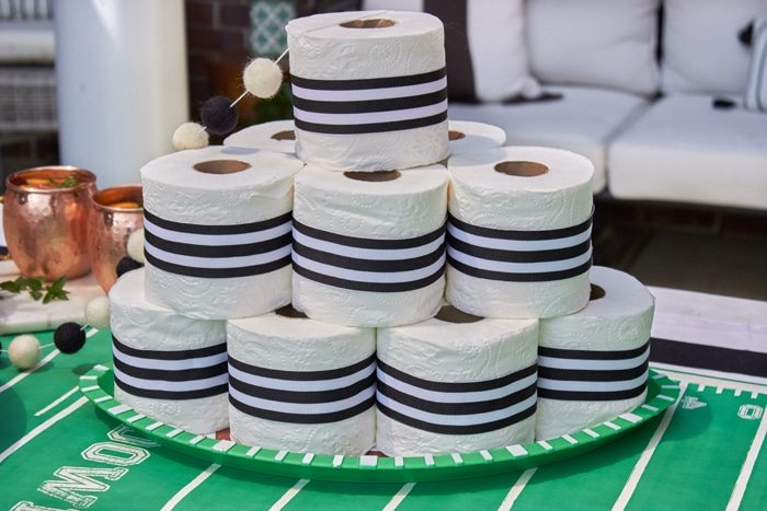 Game Day Traditions - Rolling the Corner after a win! from AmysPartyiIdeas.com | #HomegatingHeroes with Dollar General #ad