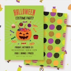 Halloween Costume Party Invites PRINTABLE from LuluCole for AmysPartyIdeas.com