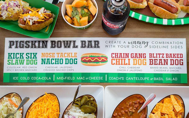 Bowl Game Watch Party + Pigskin (Hot Dog) Bar